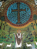 Mosaico bizantino do ícone na basílica de Sant Apollinare Nuovo Imagens de Stock