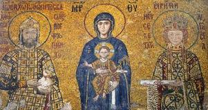 Mosaico bizantino en Hagia Sophia, Estambul. Imagen de archivo