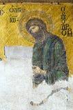 Mosaico bizantino no interior de Hagia Sophia em Istambul, a Turquia Fotografia de Stock