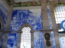 Mosaico blu Fotografia Stock Libera da Diritti