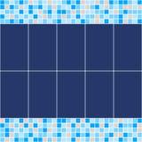 Mosaico blu e beige della piastrella di ceramica nella piscina Fotografie Stock Libere da Diritti