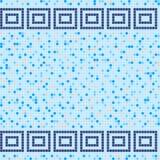 Mosaico blu e beige della piastrella di ceramica nella piscina Fotografia Stock