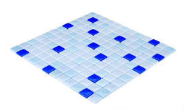 Mosaico blu, struttura Fotografie Stock Libere da Diritti