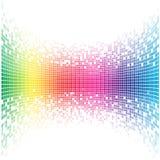 Mosaico cóncavo abstracto del arco iris stock de ilustración