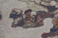 Mosaico in casa romana antica a Pompei, Italia fotografie stock libere da diritti
