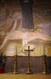 Mosaico di crucifissione della posta - chiesa del Sepulchre santo Immagine Stock