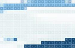 Mosaico cinzento e azul Teste padrão do vetor de Pixelated Imagem de Stock