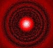 Mosaico circolare rosso Fotografia Stock Libera da Diritti