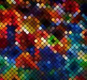 Mosaico claro abstrato multicolorido v do pixel do fundo do disco ilustração do vetor