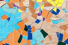 Mosaico colorido de cristal de cerámica de las tejas Imagen de archivo libre de regalías