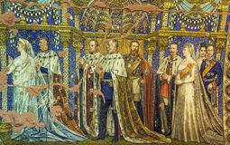 Mosaico commemorativo della chiesa di Kaiser Wilhelm, Berlino Fotografia Stock Libera da Diritti