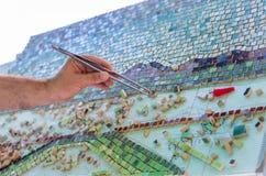 Mosaico como mosaico de cer?mica o de cer?mica fotografía de archivo libre de regalías