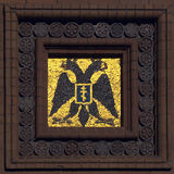 Mosaico con el águila doble-dirigida Imagenes de archivo