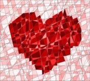 Mosaico con el corazón Fotos de archivo libres de regalías