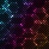 Mosaico con el fondo colorido de los hexágonos stock de ilustración