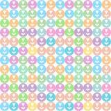 Mosaico con i fiori Immagine Stock
