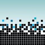Mosaico con negro y el azul Imagen de archivo libre de regalías