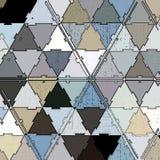 Mosaico contínuo nos triângulos de cores do metal: azul, cinzento e branco ilustração royalty free