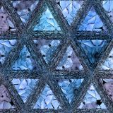 Mosaico continuo dei triangoli blu di pendenza fotografia stock