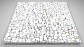 mosaico 3D branco de um quadrado Imagens de Stock Royalty Free