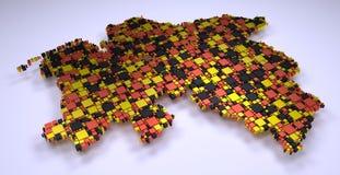 mosaico 3d de Baixa Saxónia Fotos de Stock