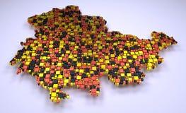 mosaico 3d de Baixa Saxónia Fotografia de Stock
