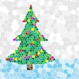Mosaico da árvore de Natal Imagens de Stock