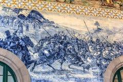 Mosaico da batalha no Sao Bento Fotografia de Stock