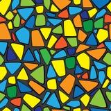 Mosaico da cor do teste padrão sem emenda Fotografia de Stock