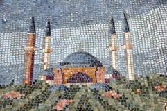 Mosaico da imagem Aja Sofia em Istambul Fotos de Stock Royalty Free