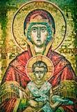 Mosaico da matriz e do Jesus de Mary de Saint. Imagens de Stock Royalty Free