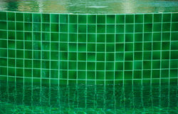 Mosaico da piscina do verde Fotografia de Stock