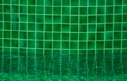 Mosaico da piscina do verde Fotografia de Stock Royalty Free