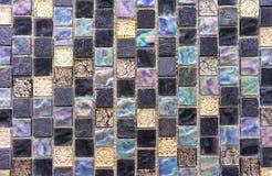 Mosaico da telha cer?mica Mosaico da telha do fundo e da textura Mosaico da telha no interior do banheiro ou da cozinha foto de stock royalty free