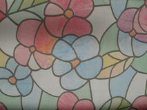 Mosaico das flores e das folhas Imagens de Stock