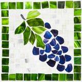 Mosaico das uvas Fotografia de Stock Royalty Free
