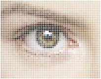 Mosaico de círculos do olho ilustração do vetor