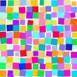 Mosaico de cuadrados coloridos brillantes en un fondo blanco ilustración del vector