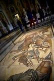 Mosaico de gladiadores en el Galleria Borghese Roma Italia Imagen de archivo libre de regalías