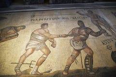 Mosaico de gladiadores en el Galleria Borghese Roma Italia Imagen de archivo