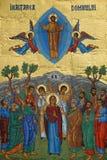 Mosaico de Goded de la escena de la ascensión de Jesús Fotos de archivo