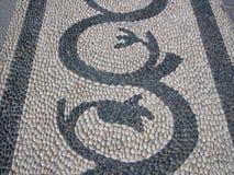 Mosaico de guijarros Imagen de archivo libre de regalías