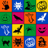 Mosaico de Halloween Fotografia de Stock