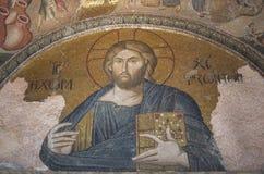 Mosaico de Jesus Christ na igreja de Chora, Istambul Imagens de Stock Royalty Free