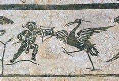 Mosaico de la casa de Neptuno, ciudad romana de Italica, Andalucía, España Imagenes de archivo