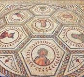 Mosaico de la casa del planetario, ciudad romana de Italica, Andalucía, España Fotos de archivo libres de regalías