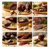 Mosaico de la comida Fotografía de archivo