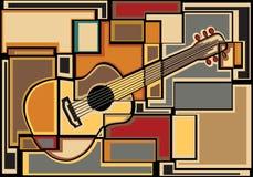 Mosaico de la guitarra Imagen de archivo
