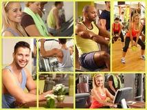 Mosaico de la imagen del club de fitness fotografía de archivo