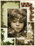 Mosaico de la Navidad Imagen de archivo libre de regalías